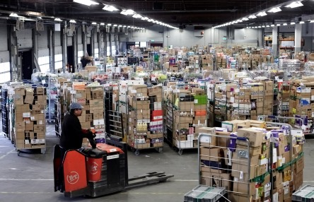 Central distribution centre of the supermarket chain